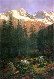 Image Photo Canadian Rockies Bierstadt | Photos and Images | Vintage