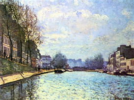 Image Photo Canal of Saint-Martin Sisley | Photos and Images | Vintage