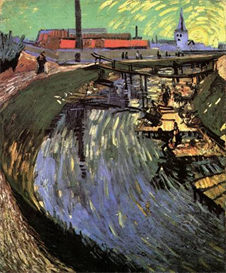 Image Photo Canal with Women Washing Van Gogh | Photos and Images | Vintage