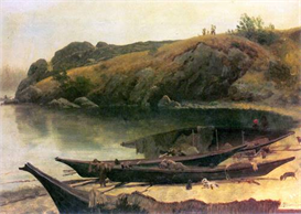 Image Photo Canoes Bierstadt | Photos and Images | Vintage