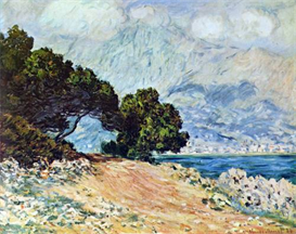 Image Photo Cape Martin in Menton Monet | Photos and Images | Vintage