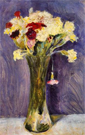 Image Photo Carnations in a green vase August Macke Expressionism | Photos and Images | Vintage