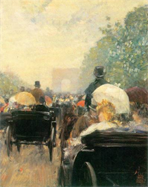 Image Photo Carriage Parade Hassam Impressionism American | Photos and Images | Vintage
