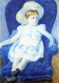 Image Photo Cassatt Mary - Elsie in a Blue Chair 1880 | Photos and Images | Vintage