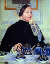 Image Photo Cassatt Mary - Lady at the Tea Table 1883 | Photos and Images | Vintage