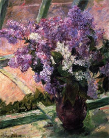 Image Photo Cassatt Mary - Lilacs in a Window 1880 | Photos and Images | Vintage