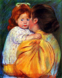 Image Photo Cassatt Mary - Maternal Kiss 1896 Impressionism | Photos and Images | Vintage