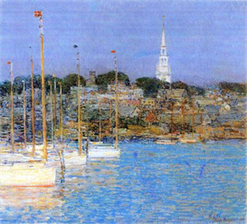 Image Photo Cat Boats, Newport Hassam Impressionism American | Photos and Images | Vintage