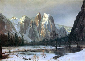 Image Photo Cathedral Rocks, Yosemite  Bierstadt | Photos and Images | Vintage