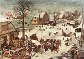 Image Photo Census at Bethlehem Pieter Bruegel | Photos and Images | Vintage