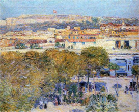 Image Photo Central Place and Fort Cabanas, Havana Hassam Impressionism American | Photos and Images | Vintage