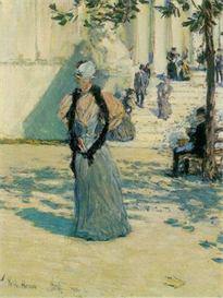 Image Photo Characters in the sunlight Hassam Impressionism American | Photos and Images | Vintage