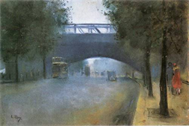 Image Photo Charing Cross - London Lesser Ury Impressionism European | Photos and Images | Vintage