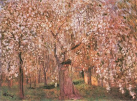 Image Photo Cherry tree blooms Joseph Rippl-Ronai Symbolism | Photos and Images | Vintage