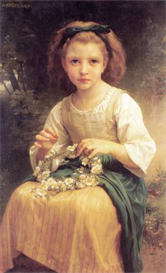 Image Photo Child Braiding A Crown Bouguereau | Photos and Images | Vintage