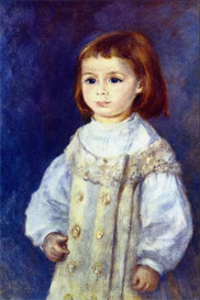 Image Photo Child in White Renoir Impressionism | Photos and Images | Vintage