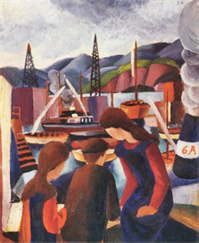 Image Photo Children at the port (I) August Macke Expressionism | Photos and Images | Vintage