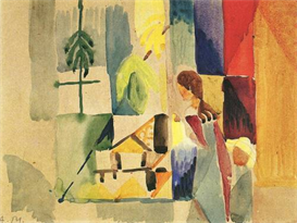 Image Photo Children at the vegetable shop (II) August Macke Expressionism | Photos and Images | Vintage