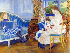 Image Photo Children in the afternoon in Wargemont Renoir | Photos and Images | Vintage