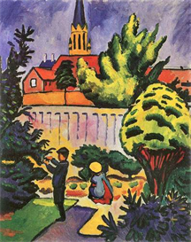 Image Photo Children in the Garden August Macke Expressionism | Photos and Images | Vintage