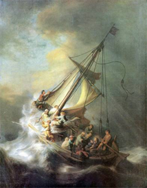 Image Photo Christ in a storm on the sea of Galilee Rembrandt | Photos and Images | Vintage