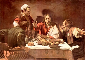 Image Photo Christ in Emmaus Caravaggio | Photos and Images | Vintage