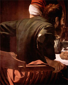 Image Photo Christ in Emmaus, detail - Disciples of Christ [1] Caravaggio | Photos and Images | Vintage