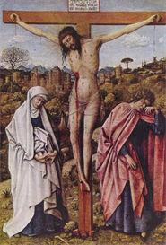 Image Photo Christ on the cross between Mary and John Jan Van Eyck | Photos and Images | Vintage