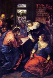 Image Photo Christ with Mary and Martha Tintoretto | Photos and Images | Vintage