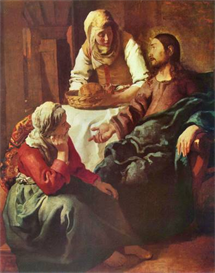 Image Photo Christ with Mary and Martha Vermeer | Photos and Images | Vintage