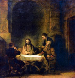 Image Photo Christus in Emmaus [1] Rembrandt | Photos and Images | Vintage