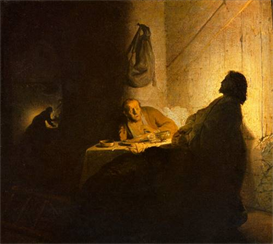 Image Photo Christus in Emmaus [2] Rembrandt | Photos and Images | Vintage