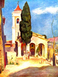 Image Photo Church in Cagnes Renoir | Photos and Images | Vintage