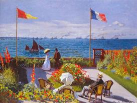 Image Photo Claude Monet - Garden at Sainte Adresse   Photos and Images   Vintage