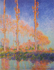 Image Photo Claude Monet - Poplars at Philadelphia | Photos and Images | Vintage