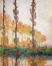 Image Photo Claude Monet - Poplars in Autumn II | Photos and Images | Vintage