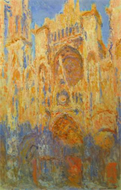 Image Photo Claude_Monet - Rouen Cathedral Facade at Sunset | Photos and Images | Vintage
