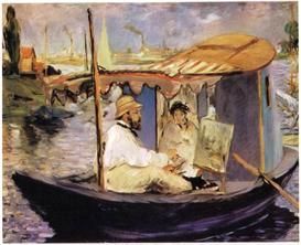 Image Photo Claude_Monet_dans_son_bateau_atelier_1874 Manet | Photos and Images | Vintage