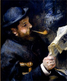 Image Photo Claude_Monet_Reading_A_Newspaper | Photos and Images | Vintage