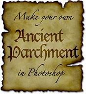 ancient burnt parchment for photoshop 6 and above, mac or pc
