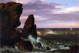 Image Photo Coastal scene Frederick Edwin Church | Photos and Images | Vintage