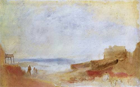 Image Photo Coastal scene with buildings Joseph Mallord Turner | Photos and Images | Vintage