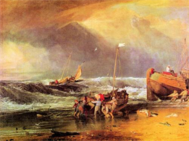 Image Photo Coastal scene with fishermen Joseph Mallord Turner | Photos and Images | Vintage