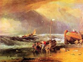 Image Photo Coastal scene with fishermen Joseph Mallord Turner | Photos and Images | Vintage