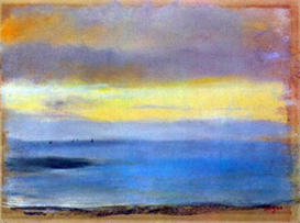 Image Photo Coastal strip at sunset Degas | Photos and Images | Vintage