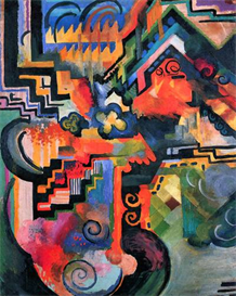 Image Photo Color Composition (I) August Macke Expressionism | Photos and Images | Vintage