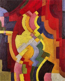 Image Photo Colored forms (III) August Macke Expressionism | Photos and Images | Vintage
