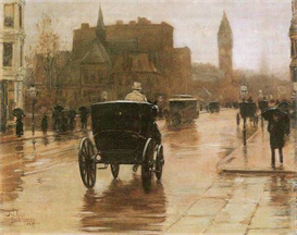 Image Photo Columbus Avenue Hassam Impressionism American | Photos and Images | Vintage
