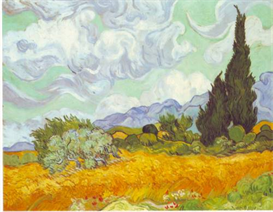 Image Photo Cornfield with Cyprusses  Van Gogh | Photos and Images | Vintage