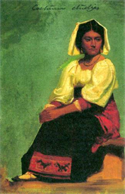 Image Photo Costume study of a seated woman Bierstadt | Photos and Images | Vintage